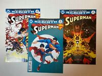 Superman Lot: #3B Rocafort Variant 4 & 5 DC 2016