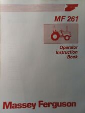 Massey Ferguson Mf 261 Compact Industrial Agricultural Farm Tractor Owner Manual