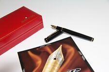 SHEAFFER CONNAISSEUR 810 FOUNTAIN PEN BLACK 18K NIB MEDIUM WITH BOX MINT