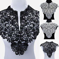 Retro Lace Embroidered Venise Neckline Neck Collar Trim Clothes Sewing Applique