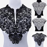 Retro Lace Embroidered Venise Neckline Neck Collar Trim Clothes Sewing Applique