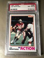 1982 Topps Football Card #489 Joe Montana IA PSA NM-MT 8 San Francisco 49ers HOF