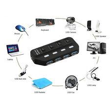 alta velocidad 4 puertos USB 3.0 Multi Hub Separador EXPANSIÓN PC de sobremesa
