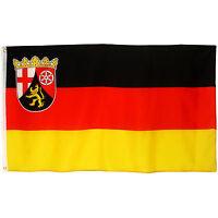 Fahne Rheinland - Pfalz Querformat 90 x 150 cm Hiss Flagge Wappen Bundesland BRD