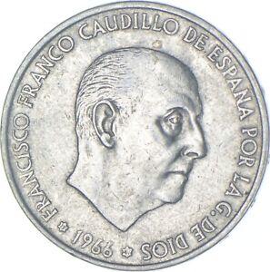 Better Date - 1966 Spain 100 Pesetas - SILVER *572