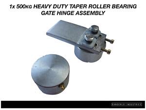 1x 500kg Heavy Duty Taper Roller Gate Hinge Assembly