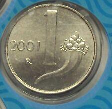ITALIA REPUBBLICA 1968-2001 SERIE COMPLETA 1 LIRA DA DIVISIONALE ZECCA FDC