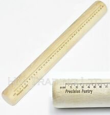 Beech Wood Precision 40cm Measuring Pastry Baking Cake Pizza Base Rolling Pin