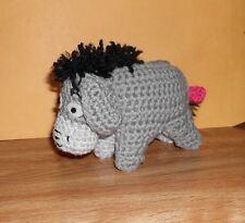 "Handmade Crocheted Amigurumi Eeyore from Winnie the Pooh 7"" long"