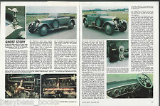 1920 ROLLS-ROYCE Silver Ghost road test, from 1976 British auto magazine