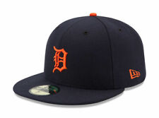 New Era 59Fifty Mens MLB Cap Detroit Tigers On Field Fitted Road Hat Navy Blue