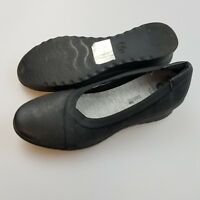 CLARKS Cloudsteppers Caddell Dash Black Wedge Slip On Shoes Women's US 6