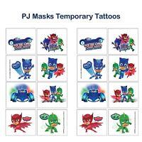(16) PJ Masks Temporary Tattoos Boys Birthday Party Favors Supplies ~ 2 sheets