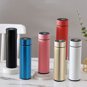 UK Smart Water Bottle Vacuum Insulated Flask LED Temperature Stainless Steel Cup