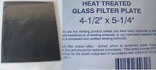 """WELDING HELMET GLASS FILTER LENS PLATE 4-1/2"""" X 5-1/4"""" SHADE # 12 DARK QTY 3"""