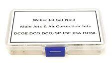 Weber Jet Selection Box No:3 Rolling Road Tuning Weber DCOE DCO/SP IDF IDA DCNL