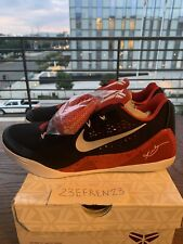 Nike Kobe IX 9 EM Low Black/White-university Red Weschester High Promo Sample