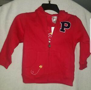 Disney Store Winnie The Pooh Zip Up  Sweatshirt Toddler Size xs
