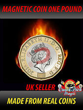 STRONG MAGNETIC NEW 12 SIDED £1 - NEW ONE POUND MAGNETIC COIN - MAGIC TRICK COIN