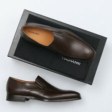 Magnanni Fabricio BrownLeather Apron Toe Loafers - Size 10 M