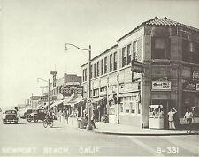 "NEWPORT BEACH Ocean Front Mac's Malt Shop VINTAGE Photo Print 1471 11"" x 14"""