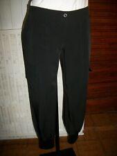 Pantalon polyester noir bouffant LA FEE MARABOUTEE 40 stretch 12PA5