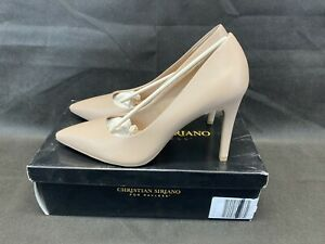 Christian Siriano Nude Women's Habit Pointed Pump Heel Shoes Size 9.5
