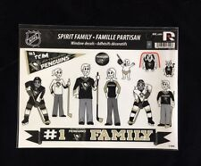 Pittsburgh Penguins Spirit Family Decals NEW car/truck window - Set of 17