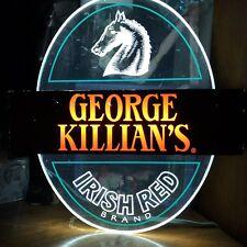 "George Killian's Irish Red Brand Bar Sign Neon Lights Up Vintage 83 12.5"" x 13"""