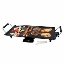 New Large Electric Teppanyaki Non Stick Cooking Flat Plate Grill Quest 2000 Watt