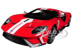 2017 FORD GT #1 RED HERITAGE SPECIAL EDITION 1/18 DIECAST MODEL BY MAISTO 31384