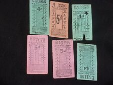 6 vintage Dublin howth  g,n,r electric tramway tickets
