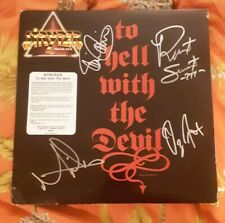Stryper To Hell With The Devil Vinyl LP Autographed Signed Michael Sweet, Oz Fox