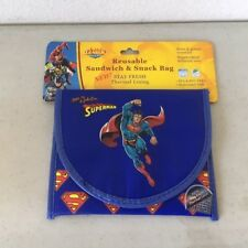 Superman Reusable Snack Sandwich Food Storage Small Objects Bag Pouch lunch kids