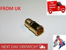 GOLD PLATED SAT Adapter F Quick connector (Sat) on F-socket (Sat)