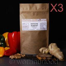Immune Support Paprika Ginger Cinnamon Turmeric Vit C Capsules 1000mg Kraft X3
