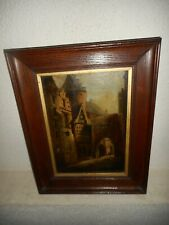 19th Century oil painting +- 1860, { Street scene with a lantern, is signed }.