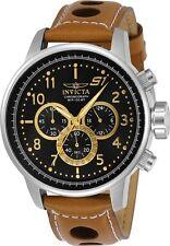 Invicta 23597 Men's Black Dial Light Brown Strap Chronograph Watch