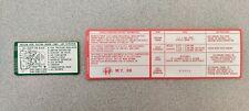 1988 Alfa Romeo Milano 3.0 Emissions and Vacuum Hose Stickers