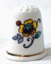 60's yellow flower on bout sides of thimble English find china