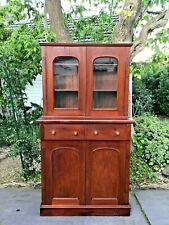 Antique Victorian Cedar Bookcase made by John Fairfax Jnr, Sydney c 1880s