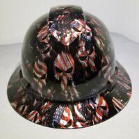 Hard Hat Full Brim Custom hydro dipped AMERICAN PUNISHER KILLER FILM best price