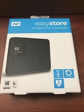 Western Digital EASYSTORE 1TB External USB 3.0 Portable Hard Drive Black Se