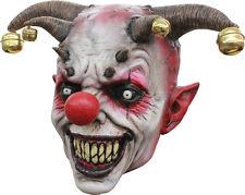 Halloween LifeSize EVIL DEMON CLOWN JINGLE JANGLE LATEX MASK Haunted House NEW