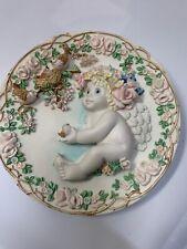 Dreamsicles Angel Cherub Sculptural 3D Collectors Plate Heavens Little Helper