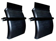 "Plastic Quarter Fender | Black | Set 24"" x 24"" Semi Truck | Pair (RH & LH)"