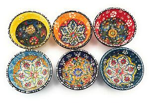 Orientalische Keramikschüssel, Schale, Müslischale, handbemalt, bunt - Ø 8 cm