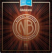 D'addario NB1253 Nickel Bronze Acoustic Strings 12-53