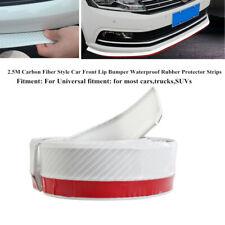 2.5M White Carbon Fiber Car Truck Front Lip Bumper Rubber Protector Strips Part