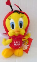 Warner Brothers Studio Store 2000 TWEETY LUV BUG Bean Bag New with mint tags